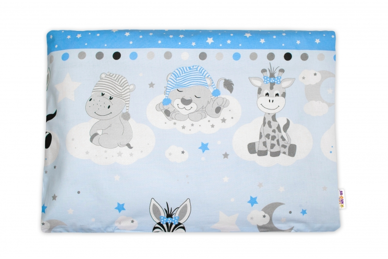 Baby Nellys  Povlak na polštářek Safari Baby, 40x60 cm - modrý