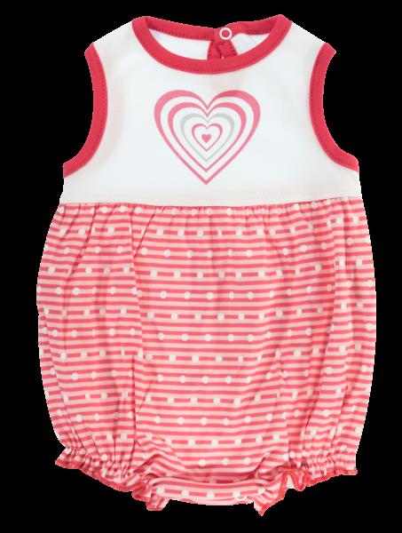 Body s nohavičkami Mamatti Love Girl - krátký rukáv, Velikost: 68 (4-6m)