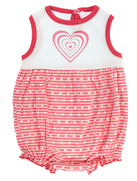 Body s nohavičkami Mamatti Love Girl - krátký rukáv, vel. 74, Velikost: 74 (6-9m)