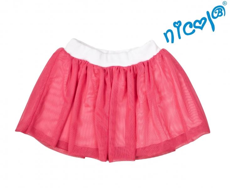 Dětská sukně Nicol, Mořská víla  - červená, vel. 128, Velikost: 128