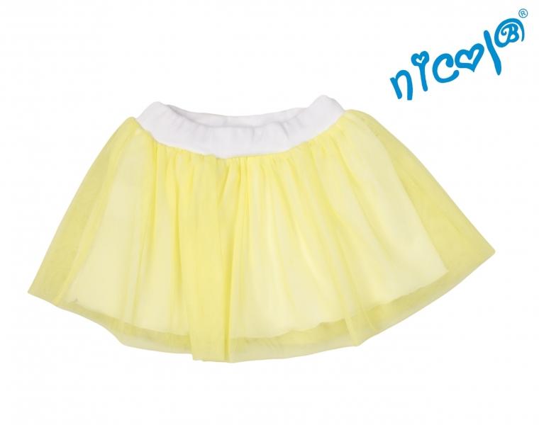 Dětská sukně Nicol, Mořská víla - žlutá, vel. 122, Velikost: 122