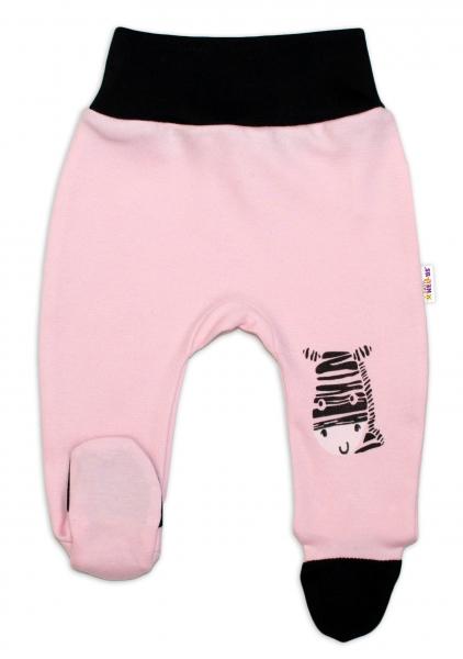Baby Nellys Kojenecké polodupačky, růžové - Zebra, vel. 68vel. 68 (4-6m)