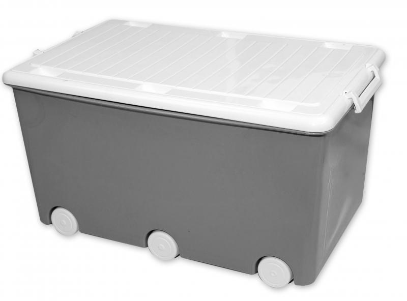 Tega Baby Pojízdný box na hračky Sova - šedý