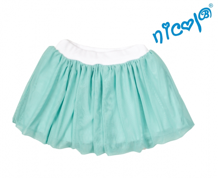 Dětská sukně Nicol,Mořská víla  - zelená vel. 110, Velikost: 110