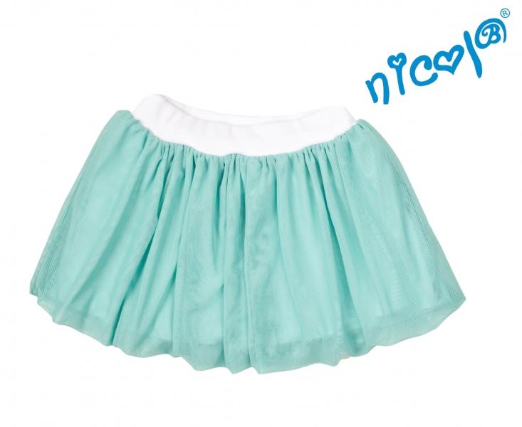 Dětská sukně Nicol,Mořská víla  - zelená vel. 122, Velikost: 122
