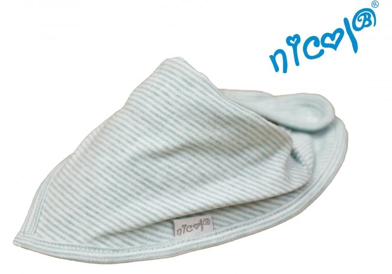 Bavlněný šátek na krk Nicol, Mořská víla - mátový
