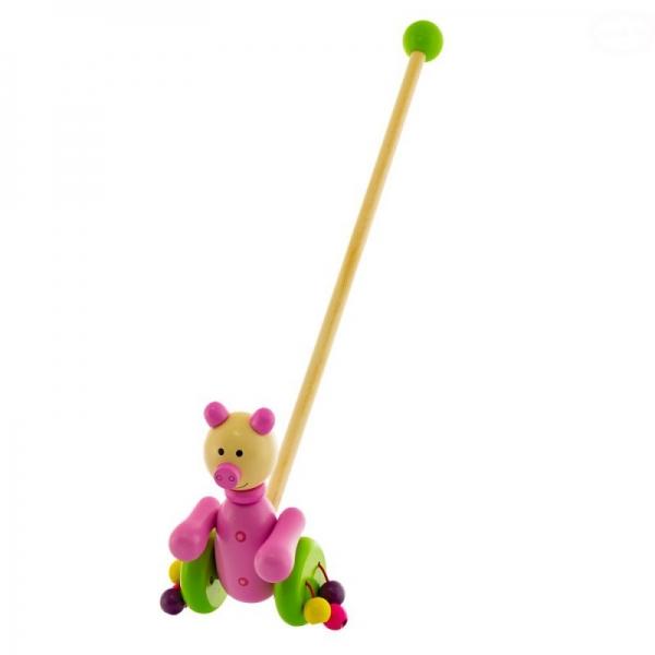 Dřevěná jezdící hračka Euro Baby - prasátko