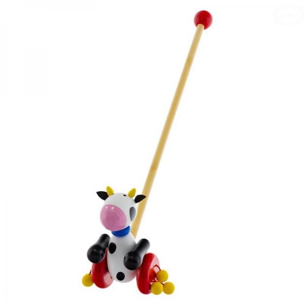 Dřevěná jezdící hračka Euro Baby - kravička