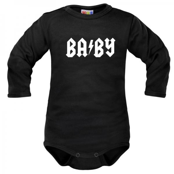 Body dlouhý rukáv Dejna Baby - černé, vel. 74, Velikost: 74 (6-9m)