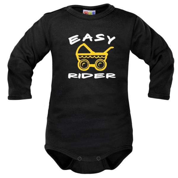 Body dlouhý rukáv Dejna Easy Rider - černé, vel. 68, Velikost: 68 (4-6m)