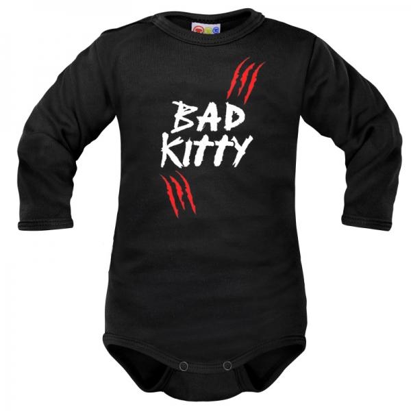 Body dlouhý rukáv Dejna Bad Kitty - černé, vel. 80, Velikost: 80 (9-12m)