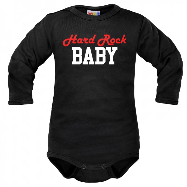 Body dlouhý rukáv Dejna Hard rock Baby - černé, vel. 68, Velikost: 68 (4-6m)