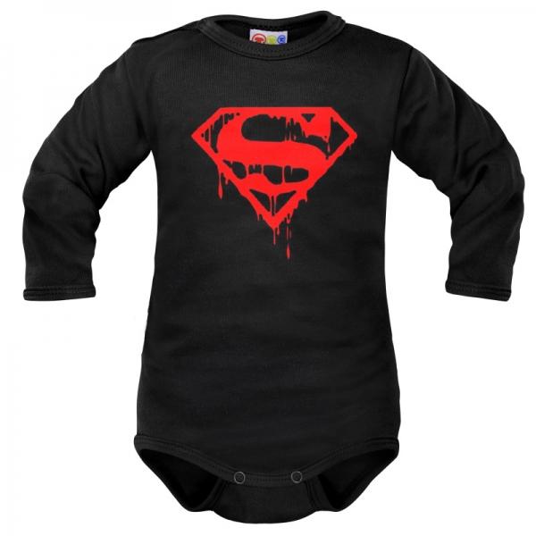 Body dlouhý rukáv Dejna Super Baby - černé, vel. 80, Velikost: 80 (9-12m)