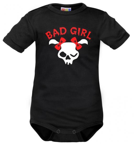 Body krátký rukáv Dejna Bad Girl- černé, vel. 80, Velikost: 80 (9-12m)