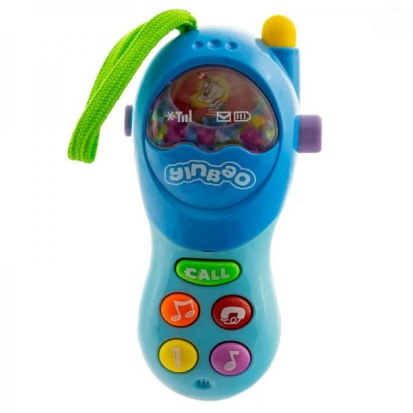Interaktivní hračka Euro Baby s melodii Mobil - modrý