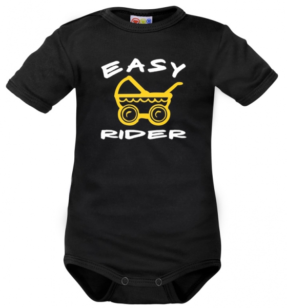 Body krátký rukáv Dejna Easy Rider - černé, vel. 74, Velikost: 74 (6-9m)