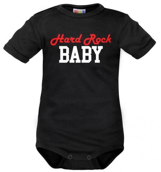 Body krátký rukáv Dejna Hard Rock Baby - černé, Velikost: 62 (2-3m)