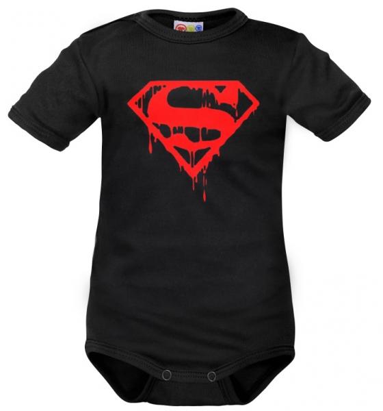Body krátký rukáv Dejna Super Baby - černé, Velikost: 62 (2-3m)
