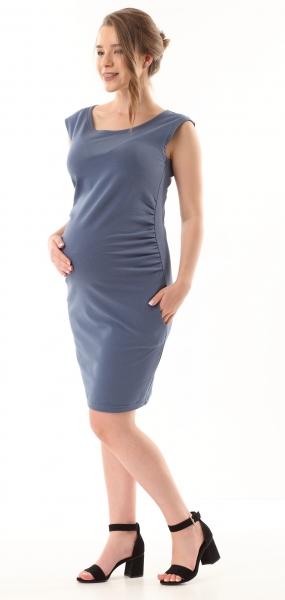 Gregx Elegantní těhotenské šaty bez rukávů  - jeans