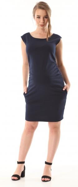 Gregx Elegantní těhotenské šaty bez rukávů  - granátové