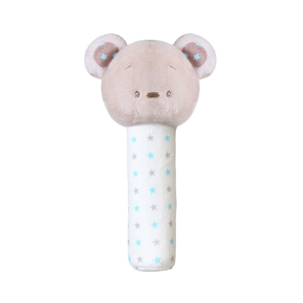 BabyOno Plyšová pískací hračka Bear Tony, 17 cm