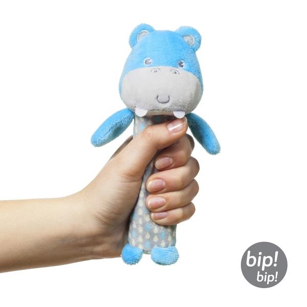 BabyOno Plyšová pískací hračka Hippo Marcel, 17 cm