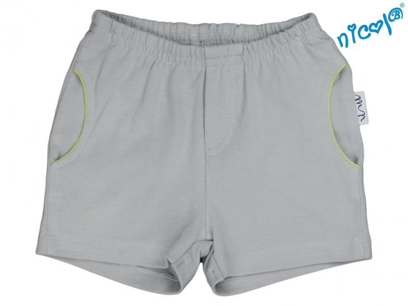 Kojenecké kraťasy Nicol, Boy - šedé, vel. 68, Velikost: 68 (4-6m)