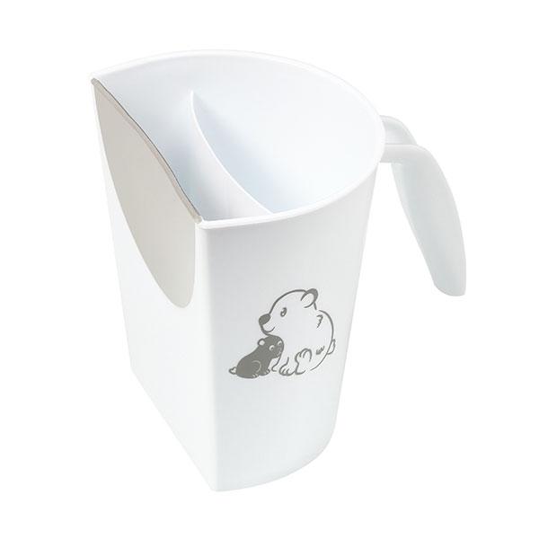 Hrníček ke koupání, mytí hlavičky BabyOno s obrázkem - bílý