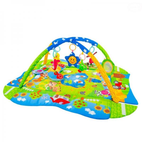 Vzdělávací hrací deka Euro Baby Farma 3 v 1 s polštářem
