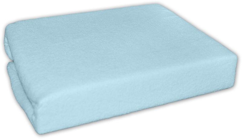Baby Nellys Nepromokavé froté prostěradlo do kočárku 75 x 35 - modré