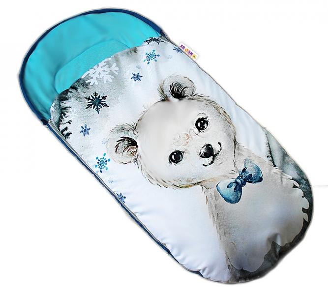 detsky-fusak-baby-nellys-winter-luxury-velvet-105-x-55-cm-medvidek-tyrkys