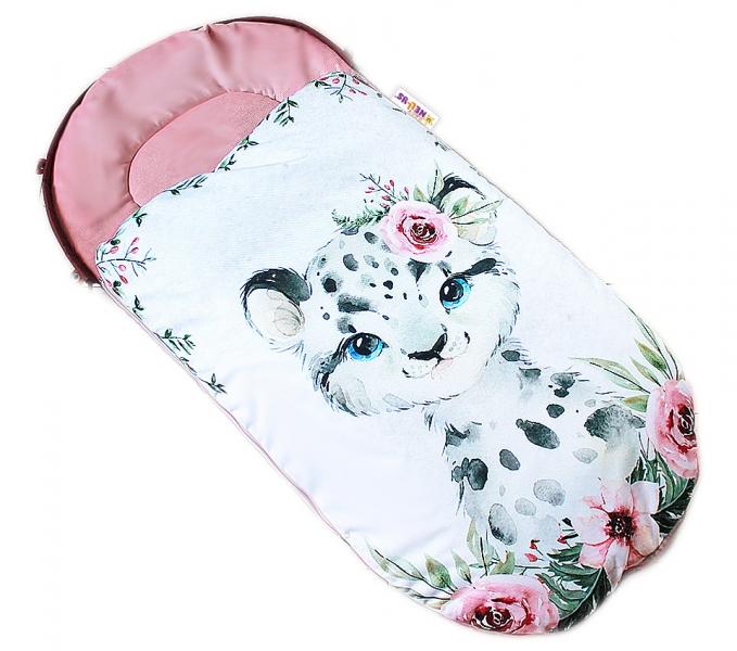 detsky-fusak-baby-nellys-winter-luxury-velvet-105-x-55-cm-gepardik-pudrove-ruzova
