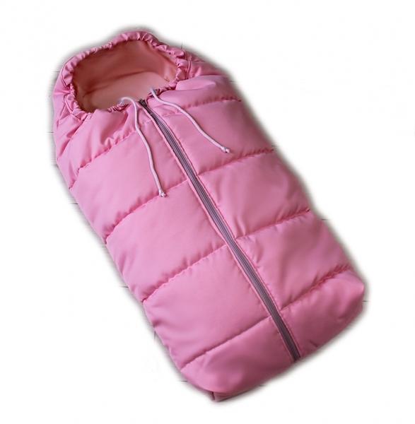 Dětský fusak Baby Nellys ARTIC LUX velvet, 95 x 45 cm - růžový