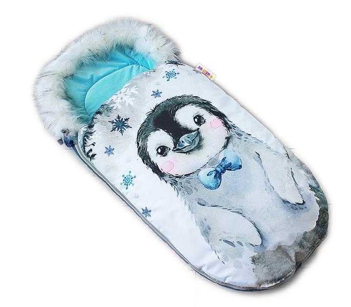 fusak-baby-nellys-winter-friends-lux-velvet-s-kozesinkou-105x55-cm-tucnak-tyrkys