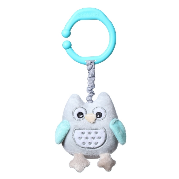 BabyOno Závěsná hračka s vibrací Owl Sophia - modrá