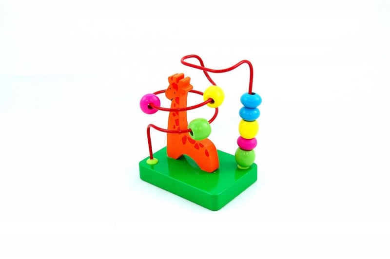 Bino dřevěný Labyrint - Žirafka