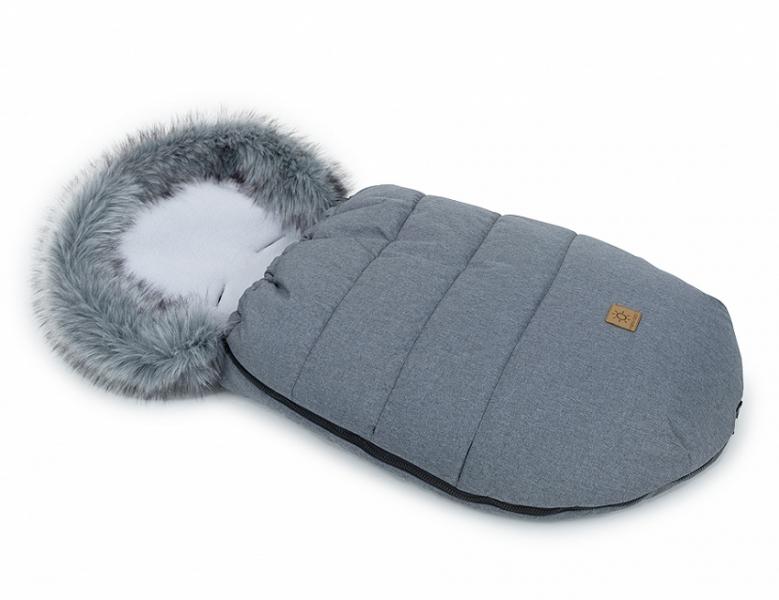 Mamo Tato Zimní fusak Lux s kožešinkou, 50 x 100cm - Grafit/šedý/bavlněný