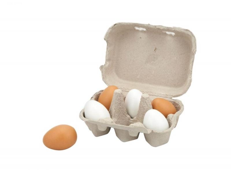 Viga Dřevěné vajíčka v krabičce 6 ks