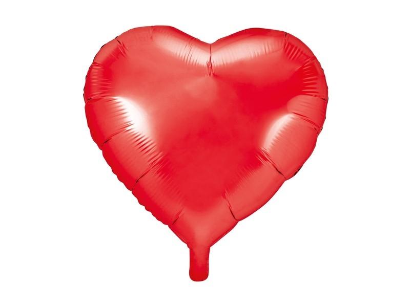 Balónek nafukovací srdce, 45 cm fóliový
