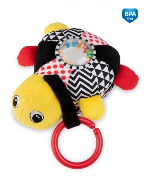 Závěsná plyšová svítící hračka s melodii a chrastítkem Canpol Babies Želva - žlutá