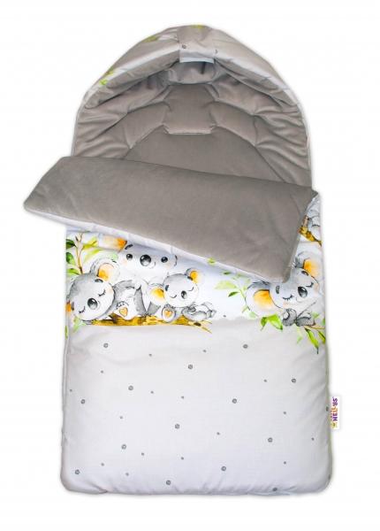 bavlneny-fusak-baby-nellys-velvet-medvidek-koala-47-x-95-cm-sedy