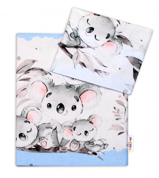2-dílné bavlněné povlečení Baby Nellys - Medvídek Koala - modrý, roz. 135 x 100 cm