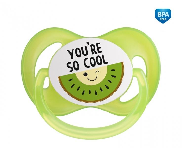 Canpol babies Dudlík symetrický So Cool 6-18 m B - zelený