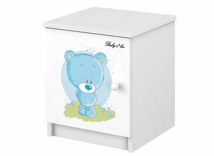 BabyBoo Noční stolek - Medvídek STYDLÍN modrý,