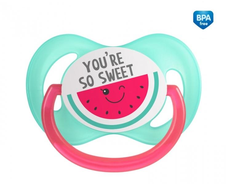 Canpol babies Dudlík symetrický So Cool 6-18 m B - růžový