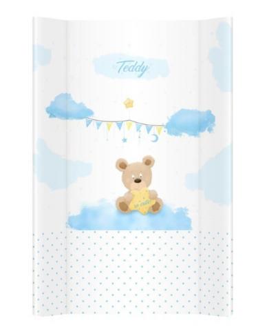 Klups, přebalovací podložka - měkká - na komodu -Teddy modrá N070