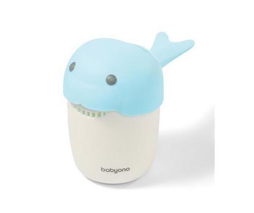 BabyOno Hrníček ke koupání, mytí hlavičky Whale - modrý