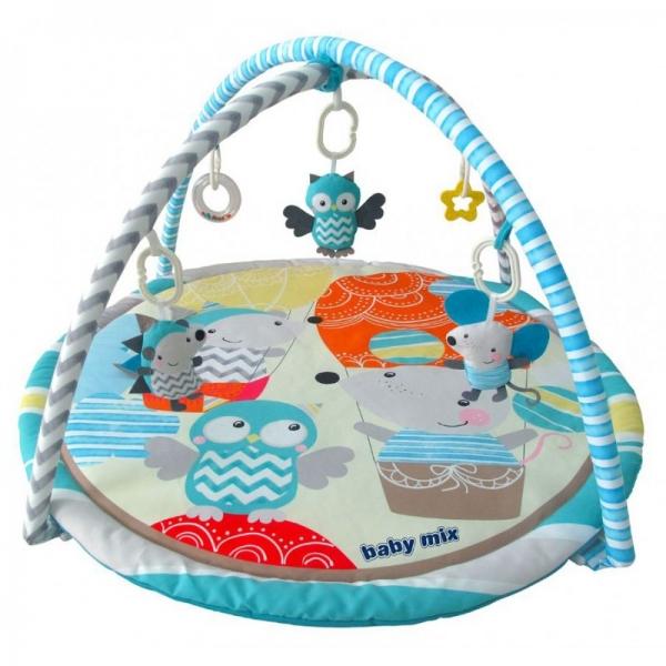 BABY MIX Vzdělávací hrací deka - Výlet balónem