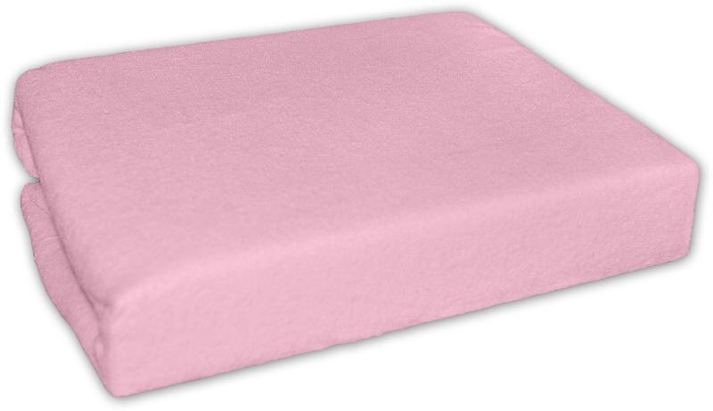 Baby Nellys Nepromokavé froté prostěradlo do kočárku 75 x 35 - růžové