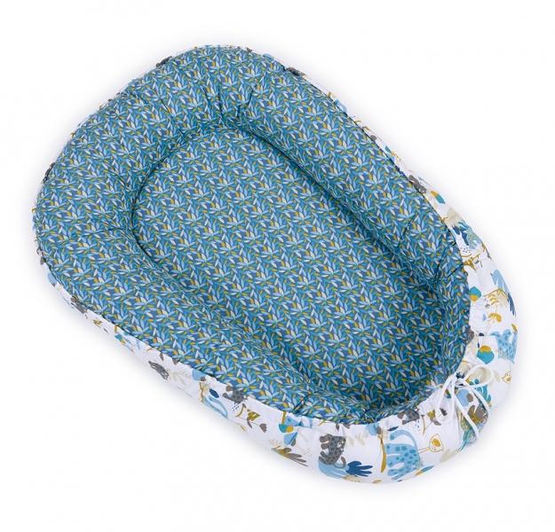Mamo Tato Oboustranné hnízdečko - kokon pro miminko - Savana modrá